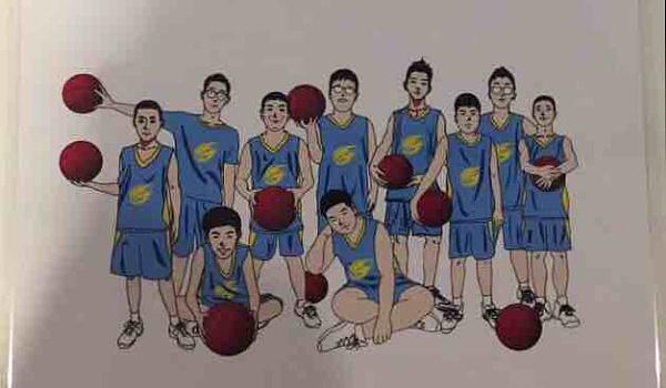 一次专业的篮球