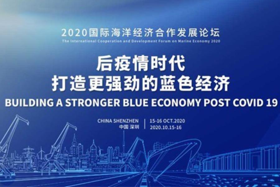 2020国际海洋经济合作发展论坛 ——后疫情时代,打造更强劲的蓝色经济